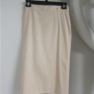 Roberto Cavalli Cream Pencil Skirt